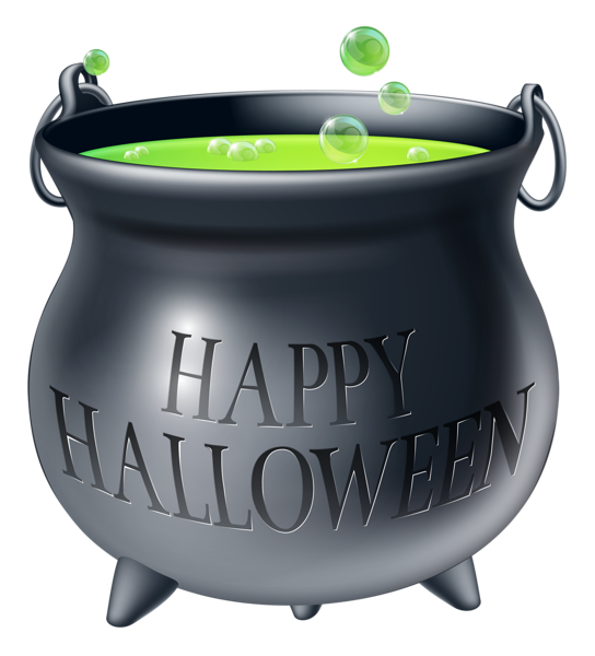 Happy Halloween Witch Cauldron PNG Clipart Picture
