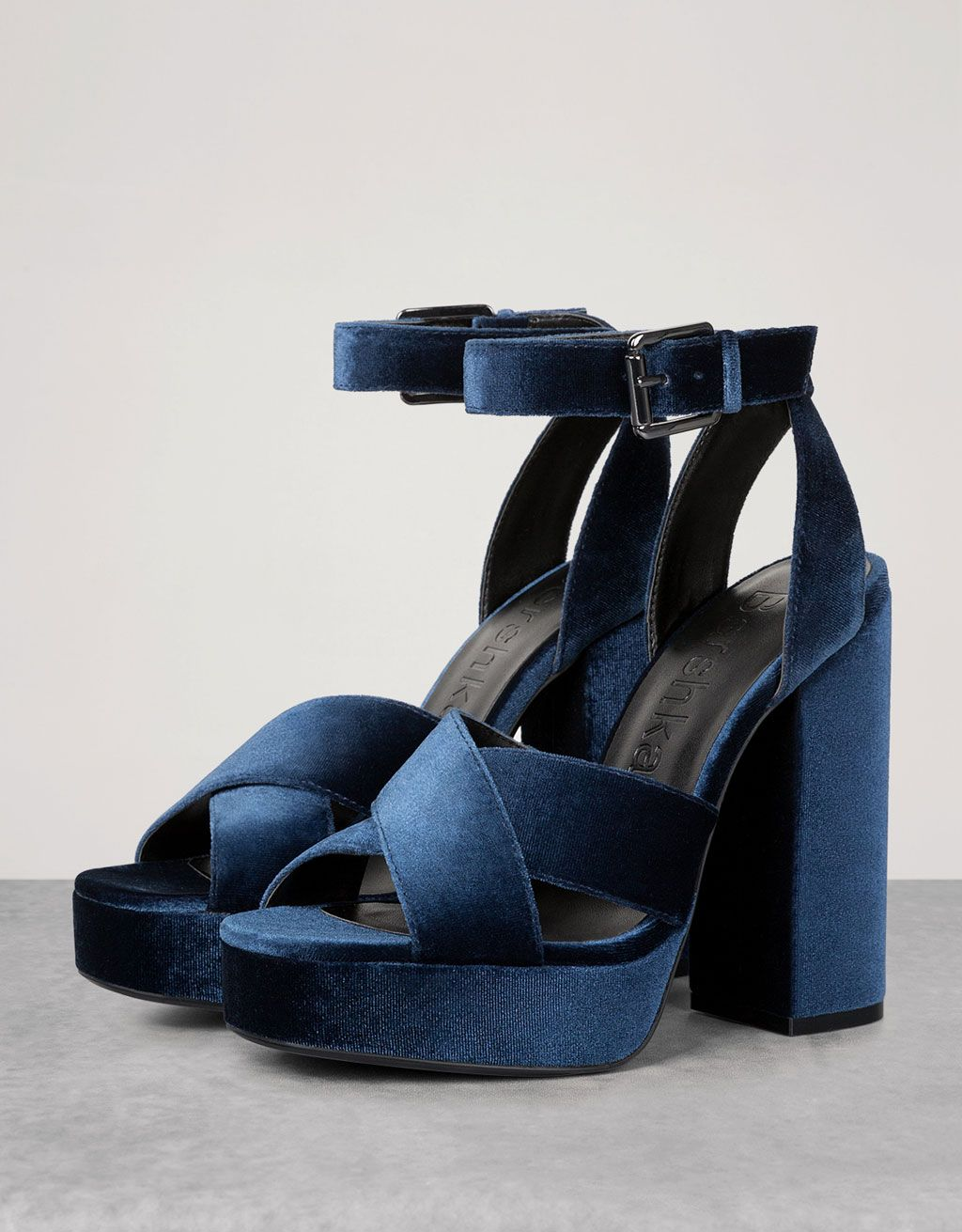 369af0cf6a96 Velvet platform sandals. Discover this and many more items in Bershka with  new products every week