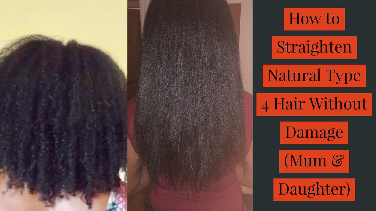 How To Straighten Natural Type 4 Hair Without Damage Mum Daughter Naturalhair Naturalhairstyl Type 4 Hair Straightening Natural Hair Natural Hair Styles