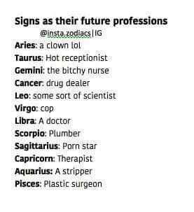 Signs As Future Professions Gemini Aquarius Zodiac