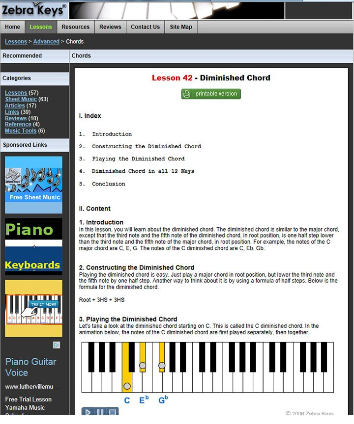 Piano Lesson 42 Diminished Chord Learn How To Construct And Play