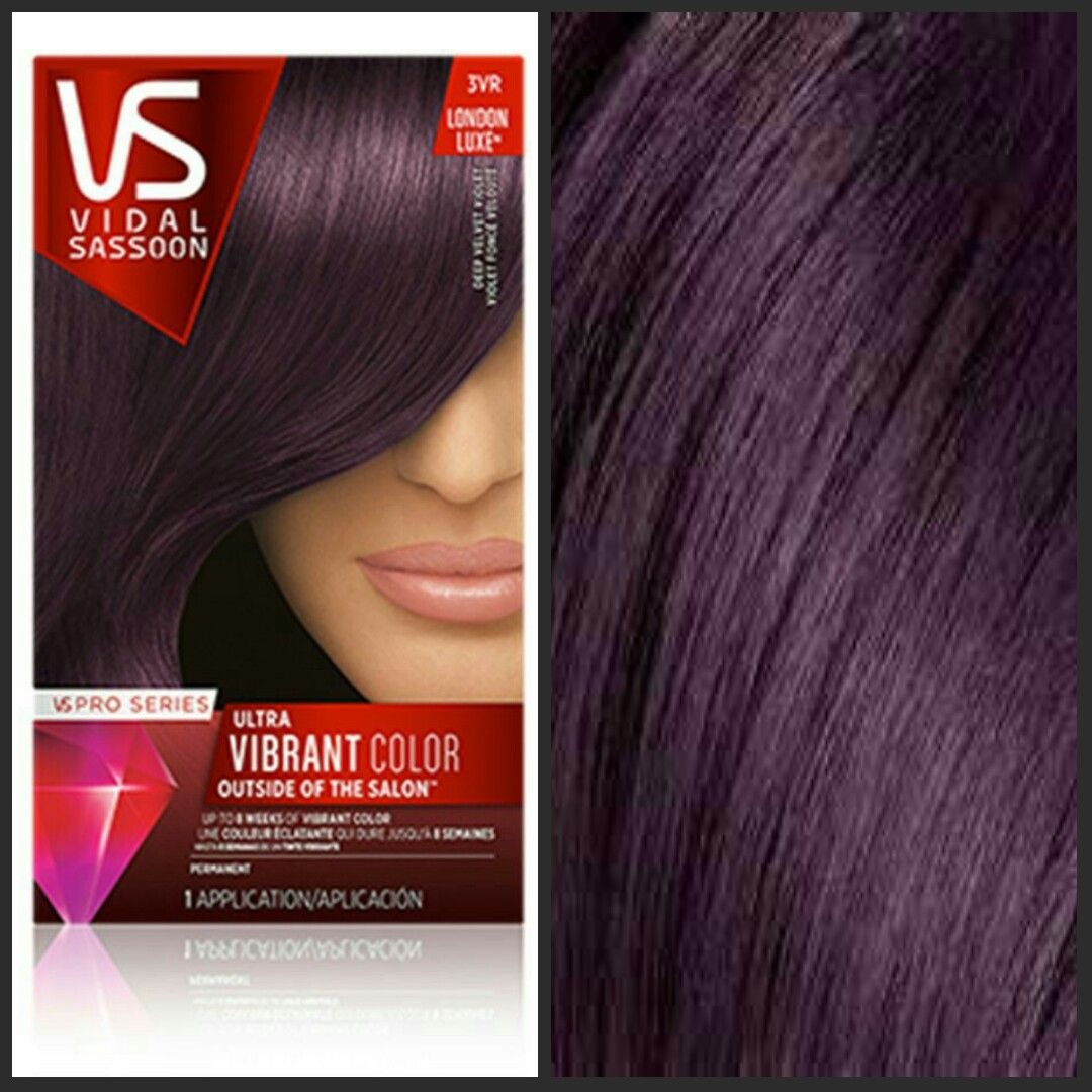 Vidal Sassoon 3rv Deep Violet Velvet My Winter 2017 Hair Color Im