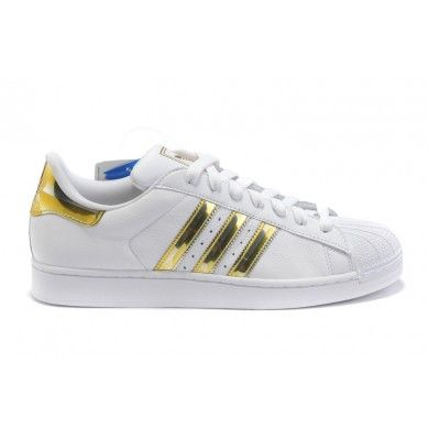 a9a087943342 Adidas Originals Superstar II Mens Shoes gold white