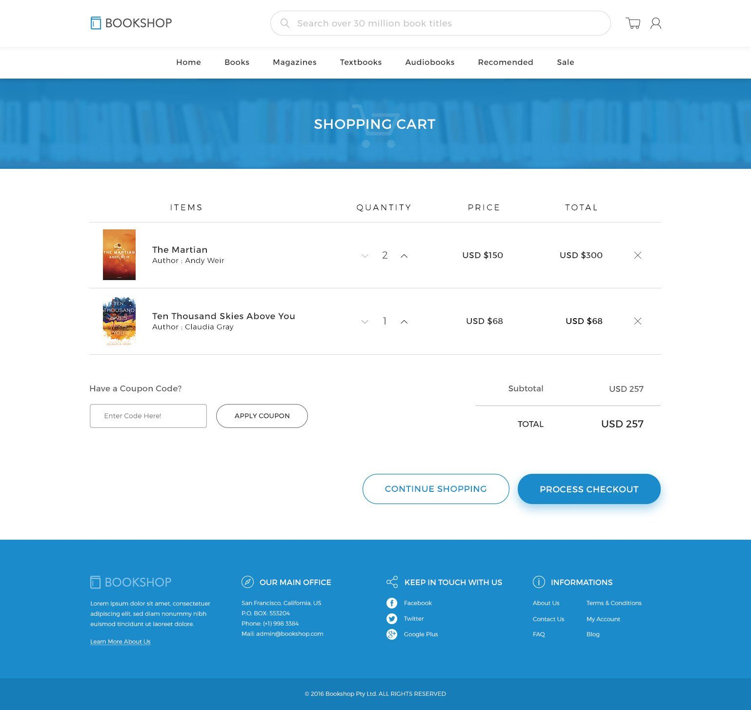 Online Book Store PSD , affiliate, FEATURES
