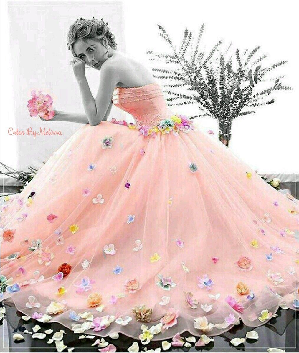 Pretty in peach black u white with a splash of bright pinterest
