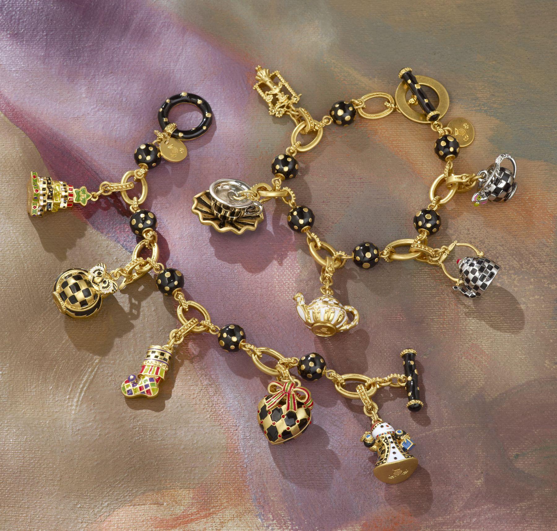 Make your own sentimental charm bracelet using trinkets you find
