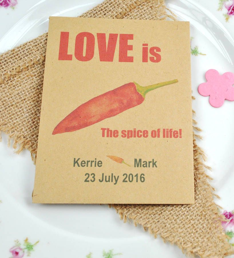 Chilli Seed Recycled Wedding Favour Wedding Ideas Pinterest