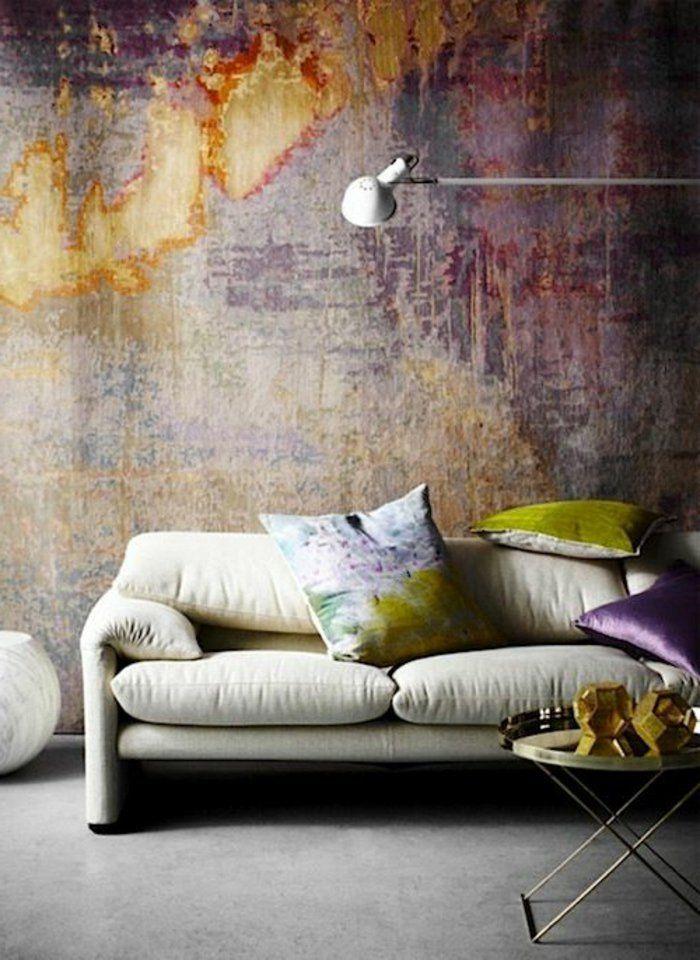 ▷ 1001+ idées pour votre peinture murale originale Wabi sabi - peinture beton cire mur