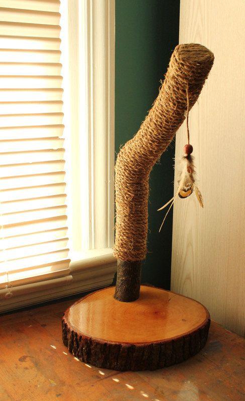 Scratching Post Idea - Recycled TreeLimb Cat Scratching Post No. 13 by HagendorfOriginals, $105.00