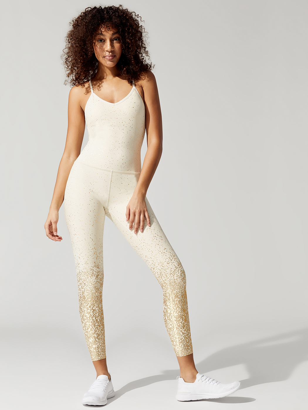 1d63c6be8f Alloy Ombre Elevation Midi Bodysuit Jumpsuit in Sandstone by Beyond Yoga  from Carbon38