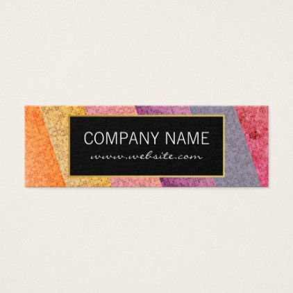 Colorful Tile Pattern Mini Business Card