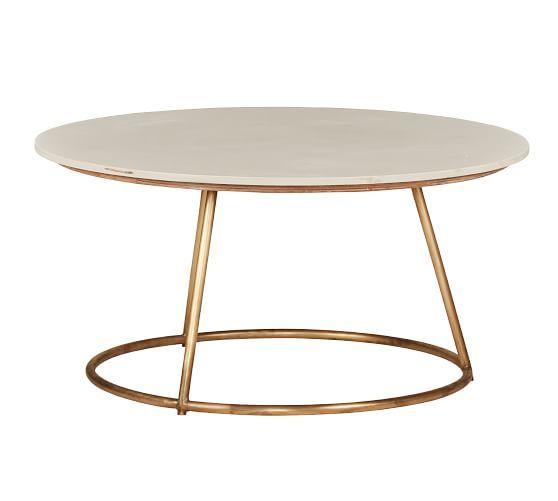Blair Coffee Table Marble Pottery Barn