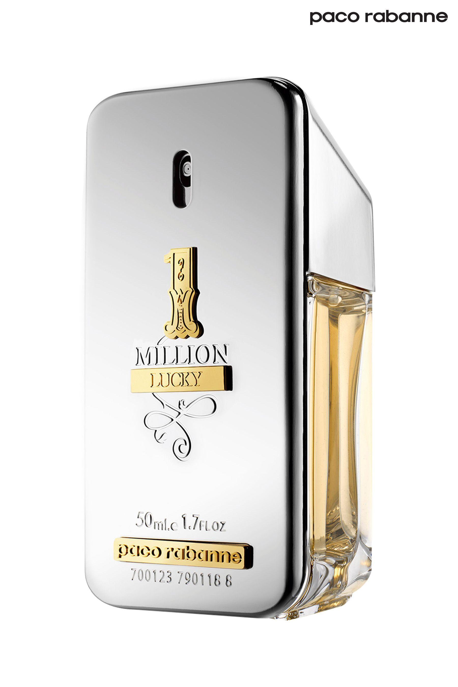 Mens Paco Rabanne One Million Lucky Eau De Toilette Silver Paco Rabanne Eau De Toilette One In A Million