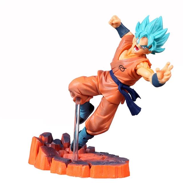 Dragon Ball Z Super Saiyan Blue Hair Son Goku Action Figure Goku Super Saiyan Blue Super Saiyan Blue Dragon Ball Super Goku