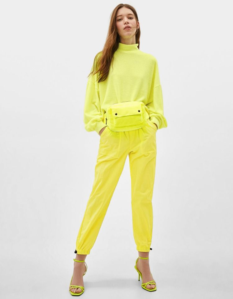572a7aa9 High neck cropped sweater | Bershka #newin #trend #trendy #cool #fashion  #outfit #ideas #inspiration #look #woman #mujer #new #in #bershka ...
