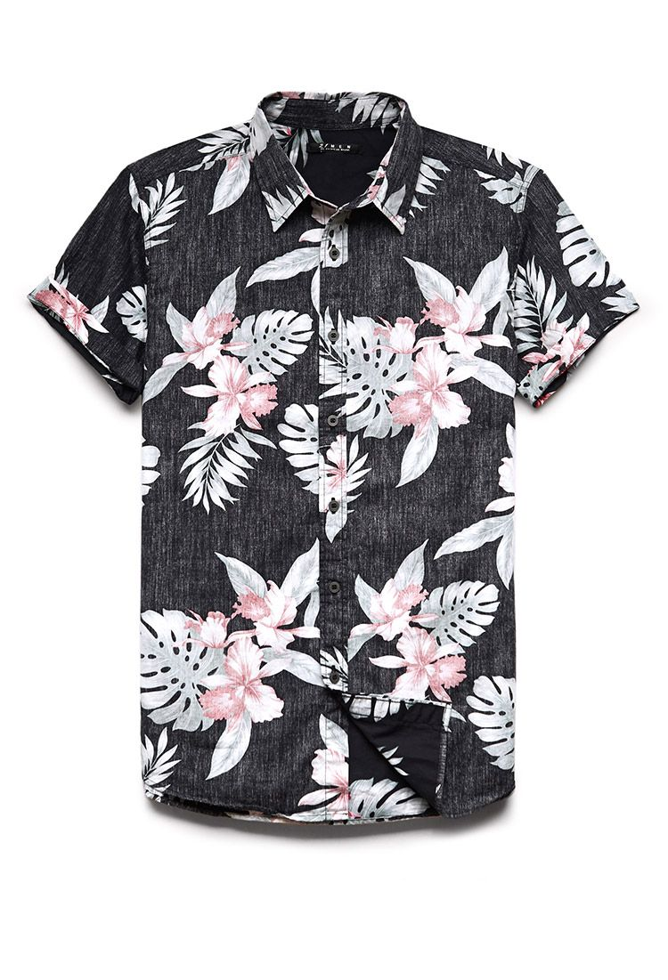 2f4f6395b2a Reverse Tropical Print Shirt