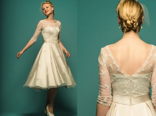 gorgeous tea length wedding gown - loulou sophia dress, heritage ...