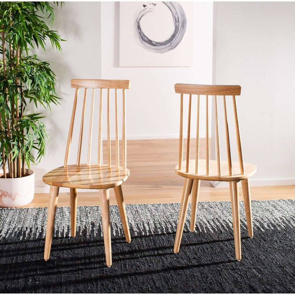 Safavieh Country Classic Dining Burris Natural Dining Chairs Set