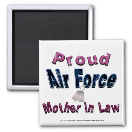 Proud Air Force Mother In Law Magnet Save The Date Magnets Wedding Magnet Save The Date