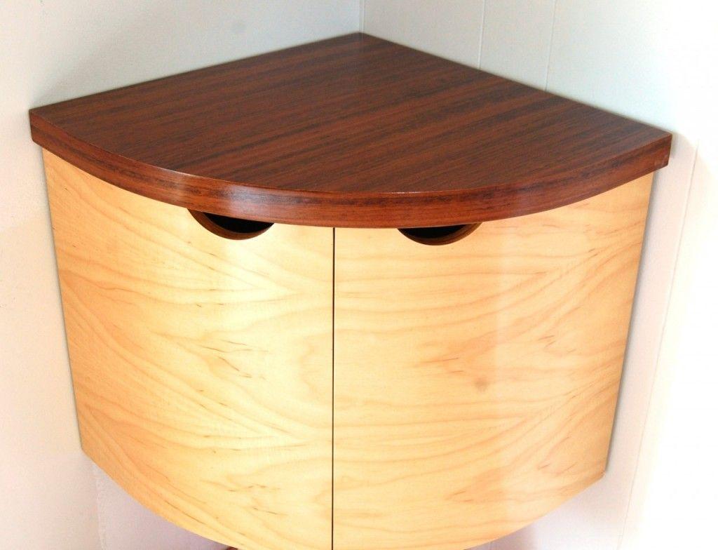 Design Furniture Deluxe Corner Rack Shelf Wall Mounted Design Quarter Round Beige Cherry Wo Balcao Para Banheiro Balcao De Canto Montando Prateleiras