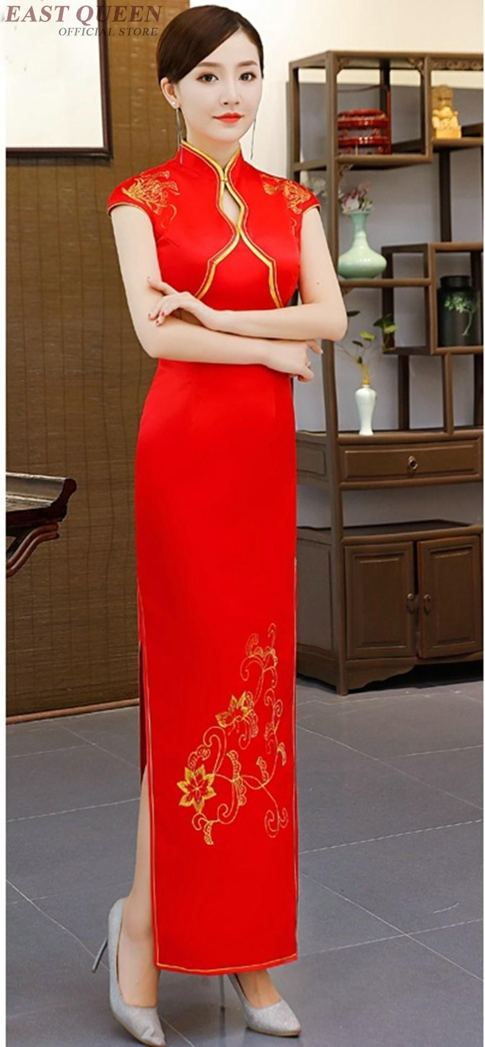 9d6a2327149 Ao dai dresses vietnam clothing oriental style cheongsam qipao modern Chinese  style dress AA4032