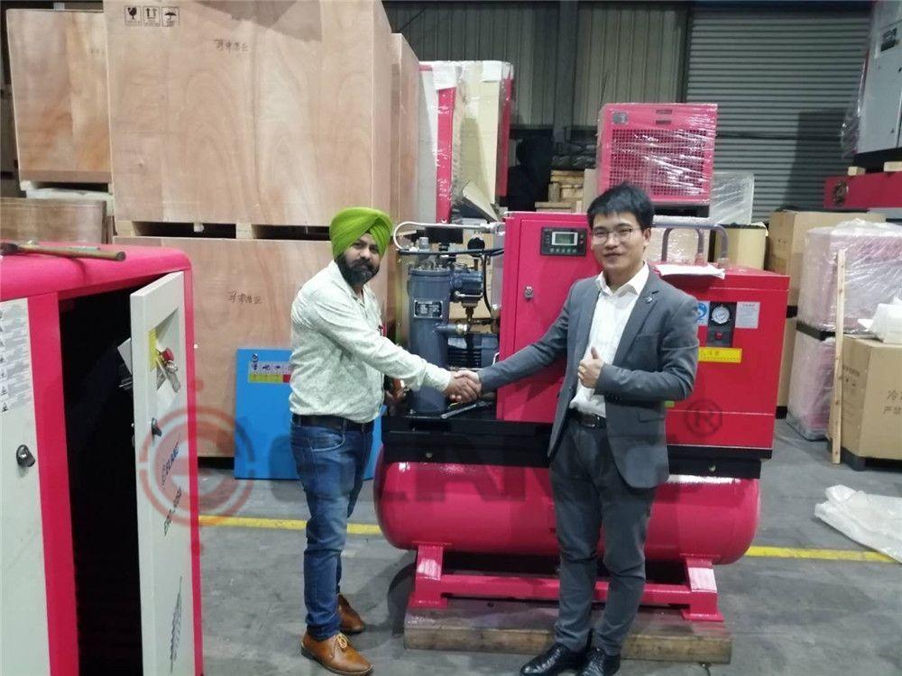 Indian Customers of Elang oil free air compressor Air