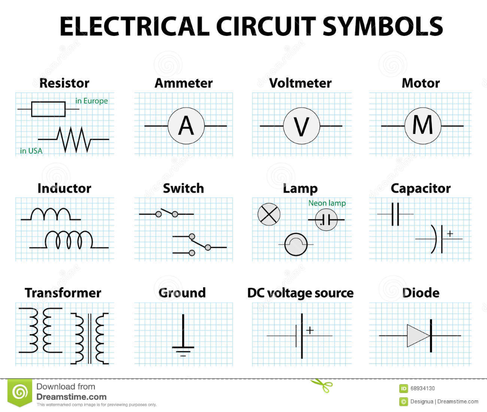 Schematic Symbols Google Search Electrical Symbols Electrical Wiring Diagram Circuit Diagram
