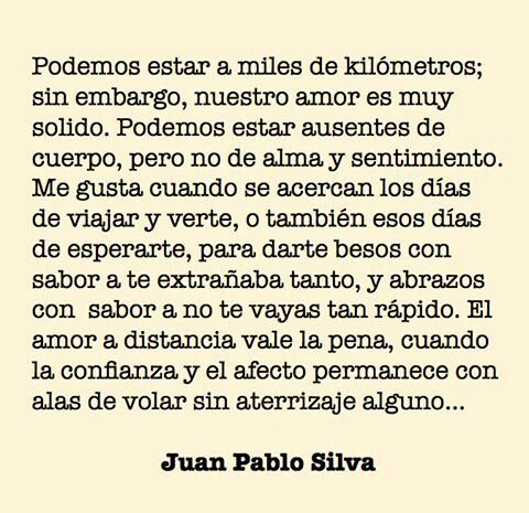 Amor A Distancia 3 By Juan Pablo Silva Frases 3 Pinterest