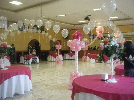Decoracion con globos arreglos centros de mesa globos con - Decoracion zaragoza ...