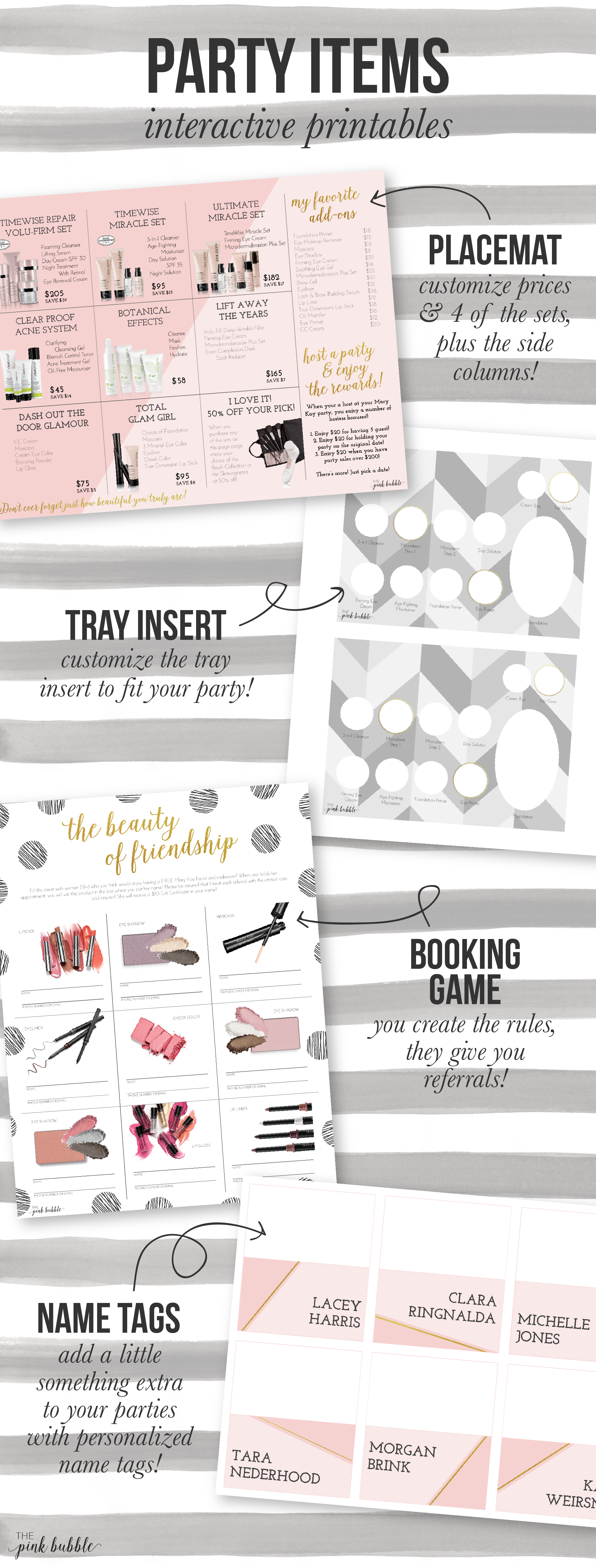 Customizable Mary Kay Party Items! Including a placemat
