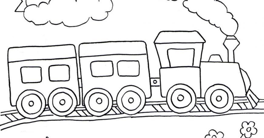 Kereta Api Dengan Gambar Buku Mewarnai Warna Gambar