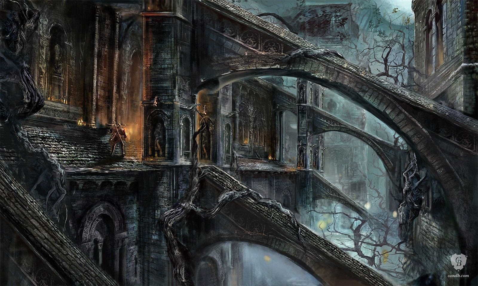 Artsy Fartsy Dark Souls Ii Concept Art: Artwork The Cathedral Of The Deep