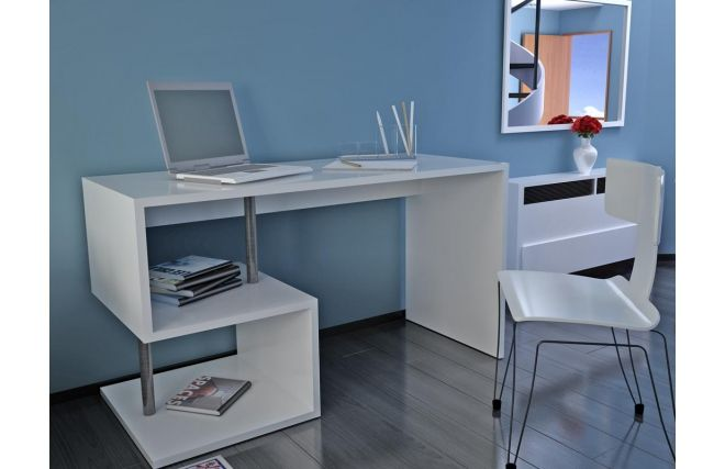Bureau design laqué blanc MAXIME | Pinterest | Desks on