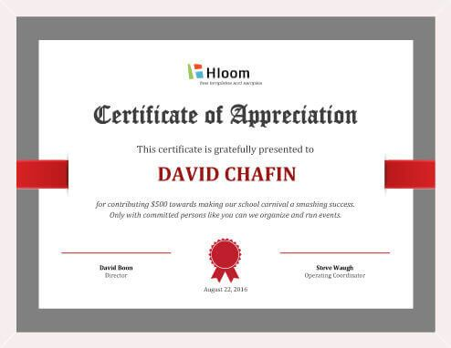 Free Certificate Template by Hloom.com | Free printable ...