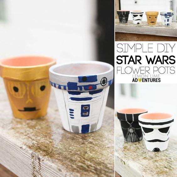 DIY Star Wars Garden Pots | ace things | Macetas pintadas, Macetas ...