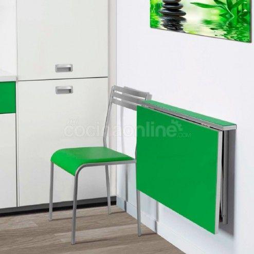 Mesa cocina abatible-plegable pared cristal Alma | стіл трансформер ...