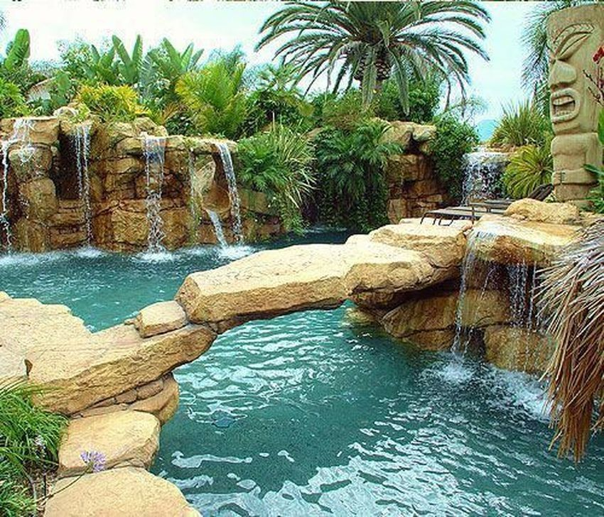 99 Glamorous Garden Design Ideas With Swimming Pools Pool Waterfall Swimming Pool Designs Backyard Pool