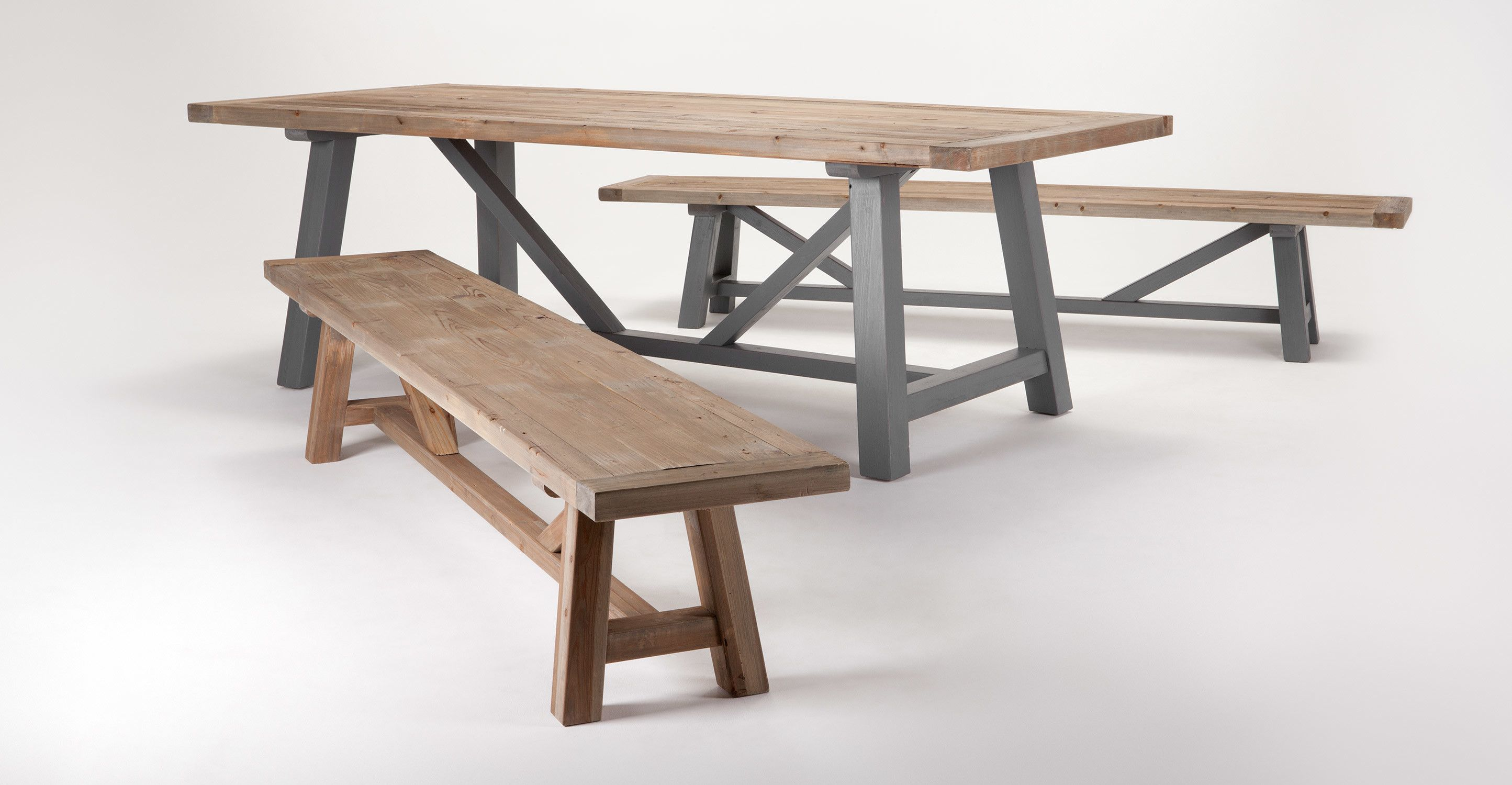 Iona Dining Table, Solid Wood and Grey | made.com | Dining ...
