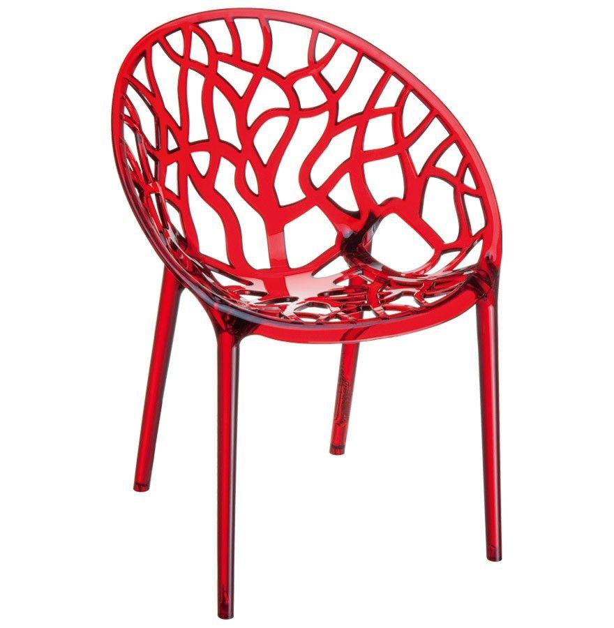 Chaise Moderne Geo Rouge Transparent En Polycarbonate Canapes Colores Chaise Moderne Chaise Acrylique Et Chaise Plastique