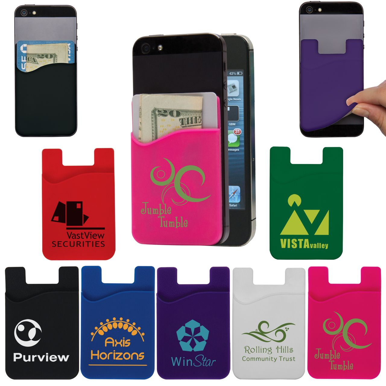 reputable site 7db00 4a917 Cell Phone Credit Card Holder in 2019 | Cell Phone & Tablet ...