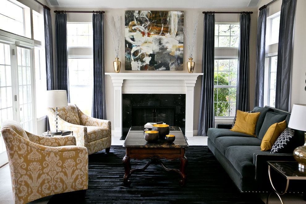Dark Blue Curtains Living Room Living Room Transitional With Impressive Blue Curtain Designs Living Room Design Decoration