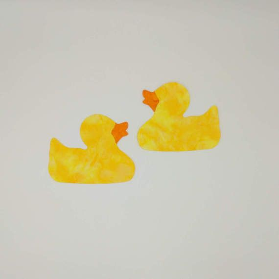 Rubber Ducky Applique pre-fused and laser by RedRoosterLaserArts