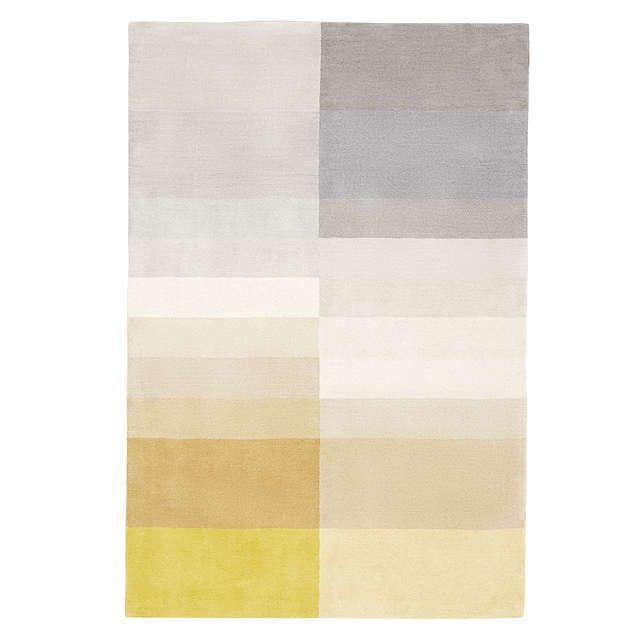 John Lewis Darci Stripe Rug Yellow