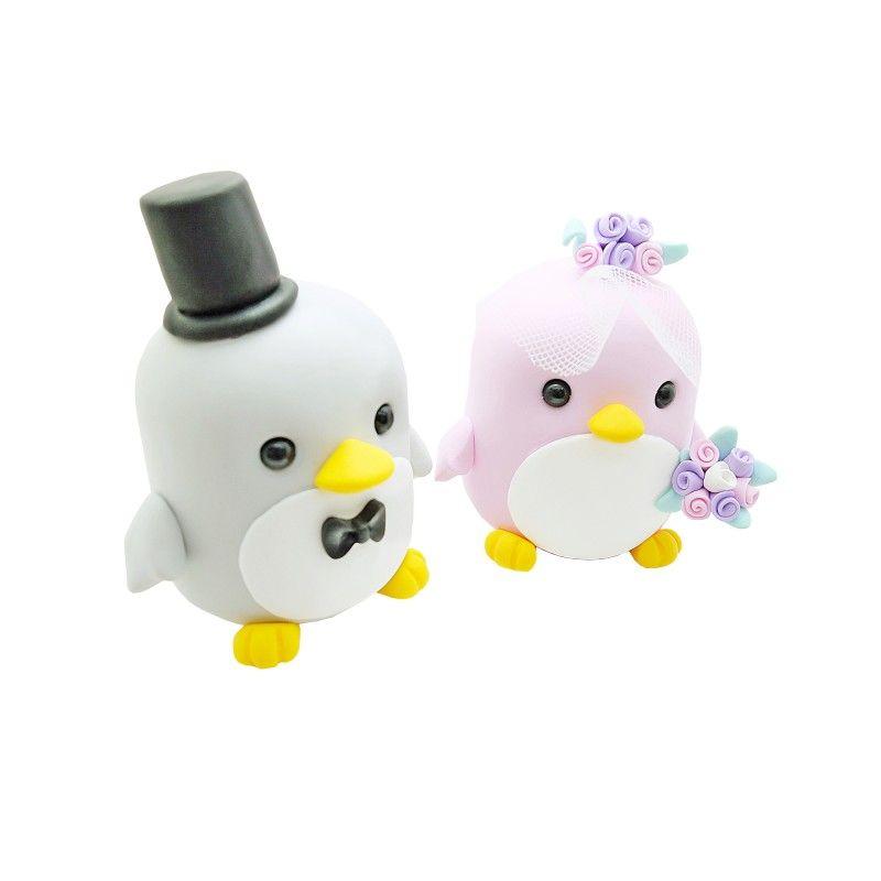 Pinguine Tortentopper Hochzeitstortenfiguren Aufsatz Hochzeit Brautpaar Paar