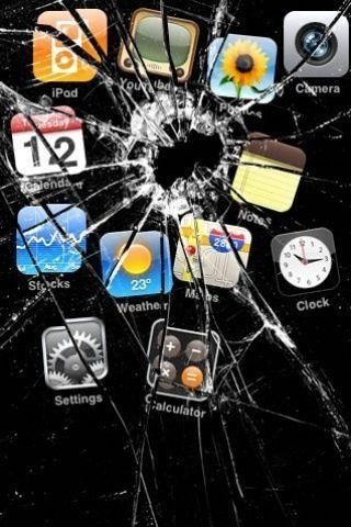 Cool IPhone Wallpaper This Goes Along With The Cracked Battery I Should Do These To My Brothers Phone