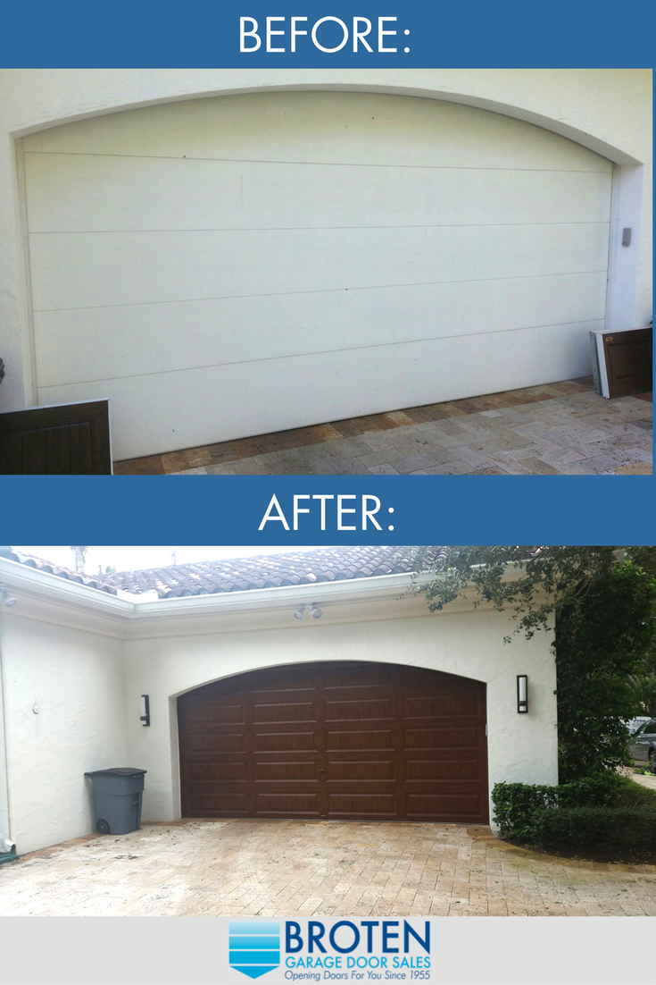 Before And After Results Of A Custom Broten Garage Door Installation