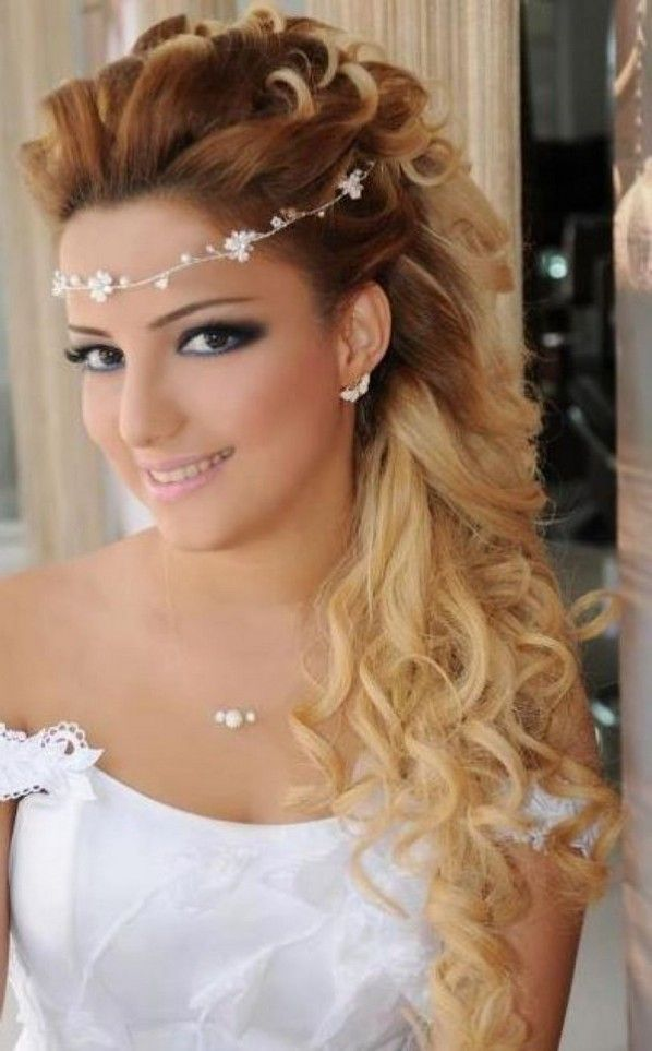Wedding Hairstyle 2015 For Round Face | Simple prom hair, Wedding hairstyles for long hair