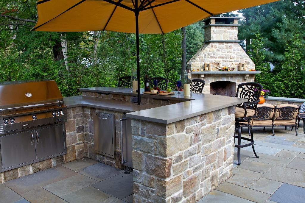 Donu0027t Let Cold Weather Stop You From Enjoying Your Outdoor Kitchen! Use  Fireplaces