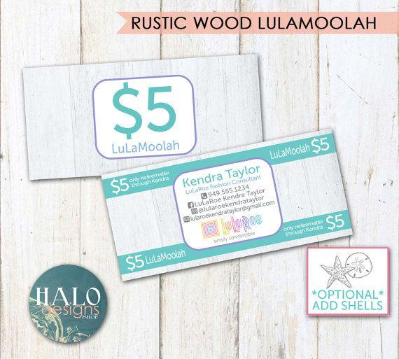 LuLaRoe Wood Gift Cards LuLaMoolah Rewards By HALOdesignsSHOP