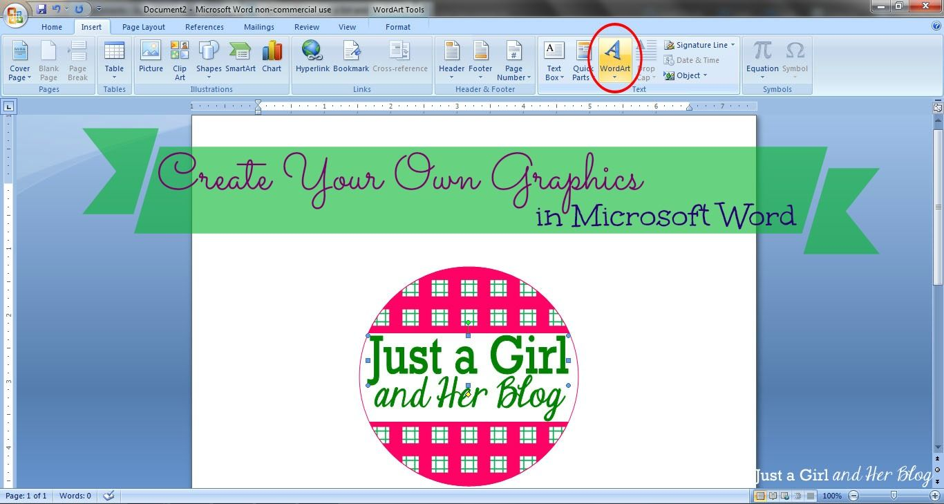 Create Your Own Graphics in Microsoft Word | Microsoft word ...